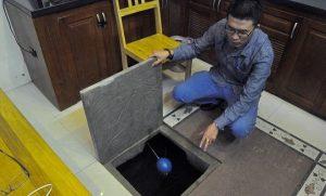 thau rửa bể nước